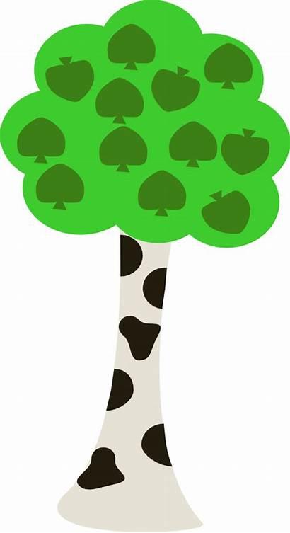 Tree Clipart Trunk Birch Clip Transparent Cartoon