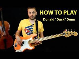 Come suonare nello stile di Donald Duck Dunn How to play ...