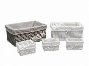 conforama panier osier table de lit With porte d entrée pvc avec panier osier rangement salle de bain