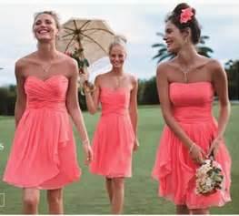coral bridesmaids dresses coral colored bridesmaid dresses