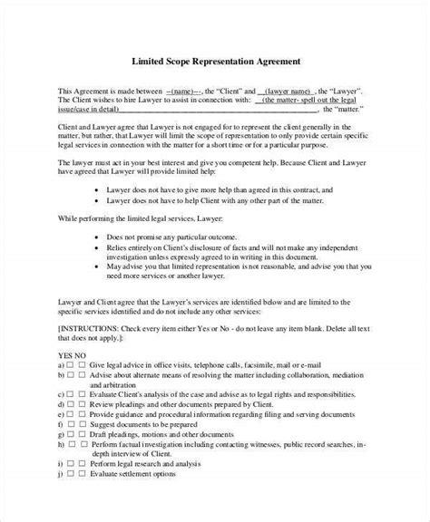 representation agreement templates
