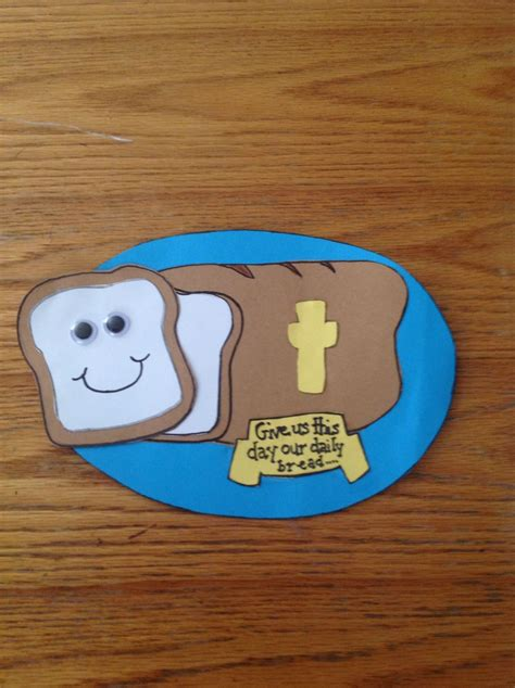 our daily bread bible craft for children s church 197 | 80c08f7b7156f3b97fdc57d7f4abc838