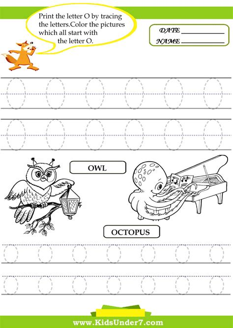 8 best images of printable tracing letter o worksheets