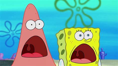 Spongebob And Patrick Shocked Faces Comparison