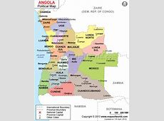 Where is Angola located? Location map of Angola