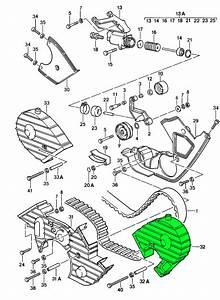 Porsche 928 Camshaft Belt Cover 92810514504