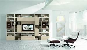 Grand Meuble Tv : meubles de salon 96 id es pour l 39 int rieur moderne en photos superbes ~ Teatrodelosmanantiales.com Idées de Décoration
