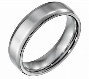 forza men39s 6mm steel w beveled edgepolished ring qvccom With qvc mens wedding rings