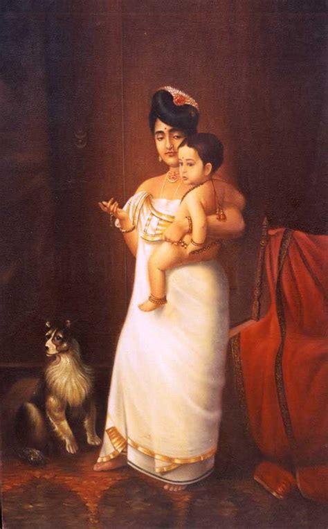 raja ravi varma paintings lady  child  prawal