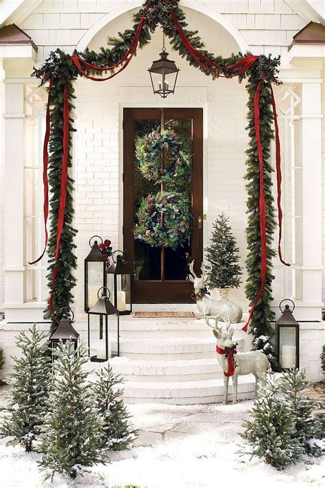 christmas front doors ideas  pinterest