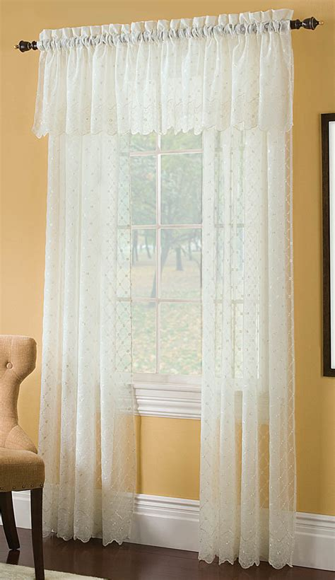 mystic crushed voile embroidered curtain renaissance