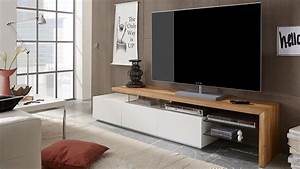 Tv Möbel Mit Integriertem Soundsystem : tv rack alimos tv board in wei matt lack und eiche massiv ~ Bigdaddyawards.com Haus und Dekorationen