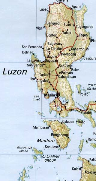 philippines maps including outline  topographical maps