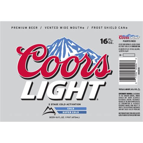 coors light carbs per can alcohol content of coors light johny fit