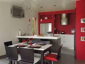 deco cuisine ouverte sur salon With delightful meuble cuisine petit espace 5 idee petite cuisine ouverte sur salon cuisine en image
