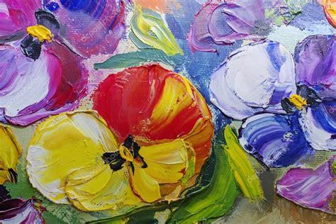 fiori ad olio texture di dipinti ad olio fiori pittura frammento di