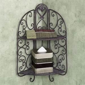 étagère D Angle Murale : tag re en fer forg pour une d co pleine de caract re ~ Teatrodelosmanantiales.com Idées de Décoration