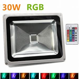 Rgb led flood light w foco exterior ip