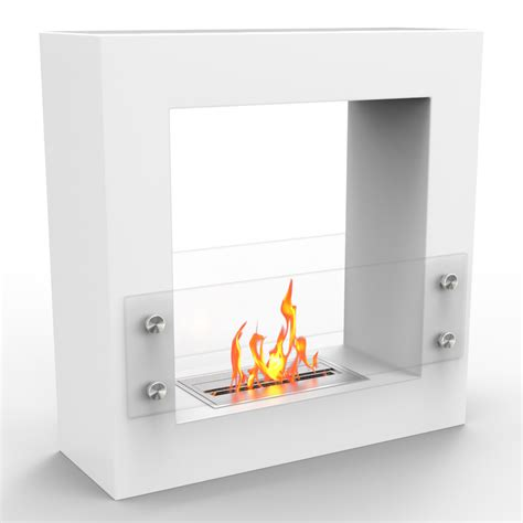 Ethanol Kamin Weiss by Ventless Free Standing Ethanol Fireplace In White