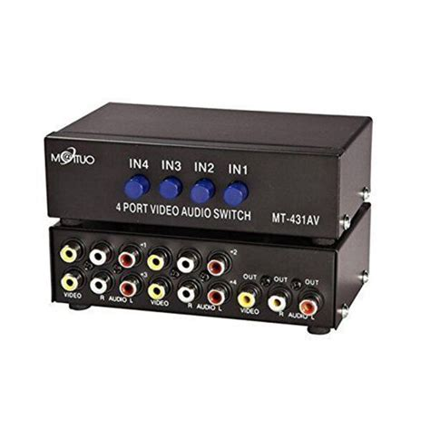 Harga Switcher Rca 4 way av switch rca switcher 4 in 1 out composite l