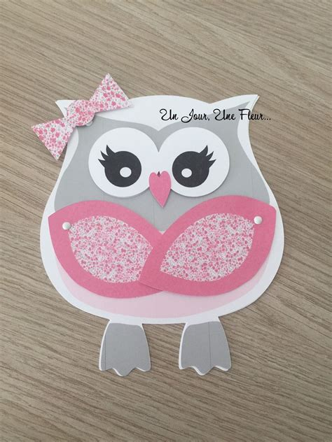 faire part bapteme hibou chouette