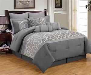 Grey King Comforter Sets Simple Bedroom Design With