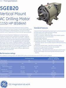 Ge Appliances Ac Drill Rig Motors Users Manual