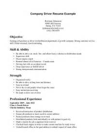 resume driving license exle driver resume format doc resume format