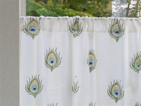 India curtain panel, Peacock, Cream   Saffron Marigold