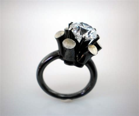 alternative engagement rings from etsy 183 rock n roll bride