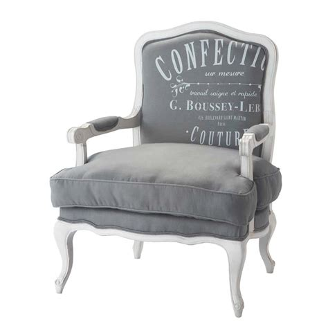 fauteuil pour chambre bébé fauteuil en gris clair confection maisons du monde
