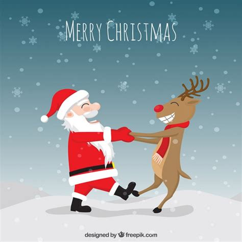 funny christmas illustration premium vector