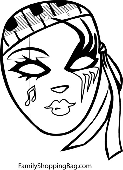 Free halloween masks coloring pages