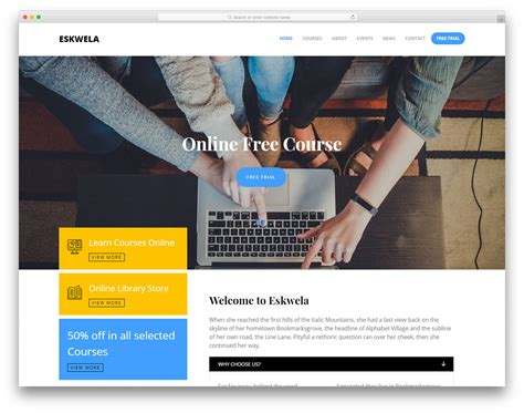 the templat 25 best free education website templates html