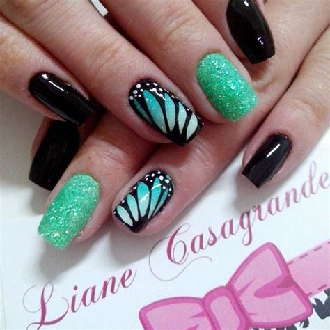 butterfly nail designs 100 awesome green nail designs