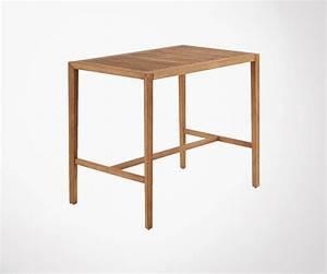 Table Haute Bois : table haute bois massif pour jardin qualit sup rieure ~ Melissatoandfro.com Idées de Décoration