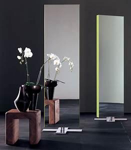 Miroir à Poser Au Sol : miroir giano poser au sol l 50 x h 180 cm laqu noir glas italia ~ Teatrodelosmanantiales.com Idées de Décoration
