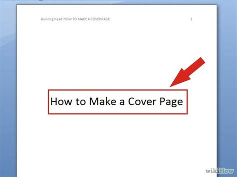 How To Make A Cover Sheet For Your Resume by 7 Ways To Make A Cover Page Wikihow