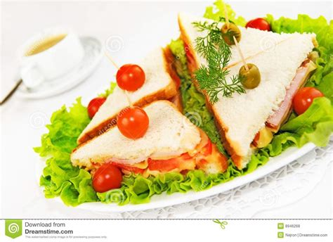 canap made home made canape sandwiches stock photo image 8946268