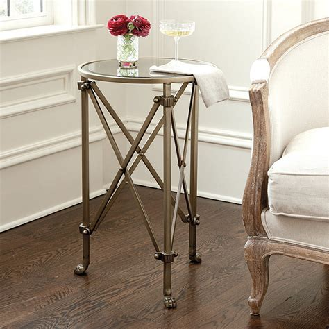 Living Room Antique Side Tables by Mirrored Side Table Ballard Designs