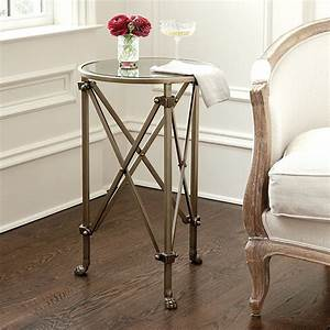 Olivia mirrored side table ballard designs for Mirrored coffee table and end tables