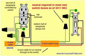 Wiring A Split Outlet To A Switch