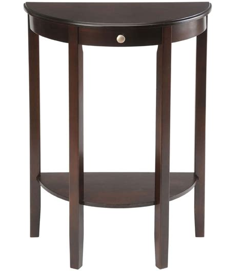 bay shore half circle console table in accent tables