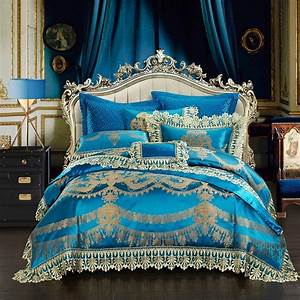 Housse De Couette Dentelle : 4 6 10 pcs dentelle bleu oriental de luxe housse de ~ Teatrodelosmanantiales.com Idées de Décoration