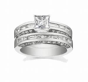 attractive cheap diamond wedding ring set 2 carat princess With princess cut wedding ring sets cheap