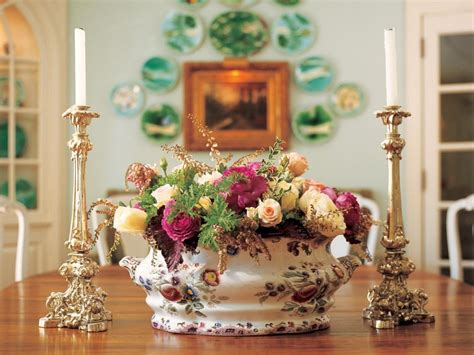 terrific flower centerpieces for dining table decorating decorating the dining table ruby lane blog