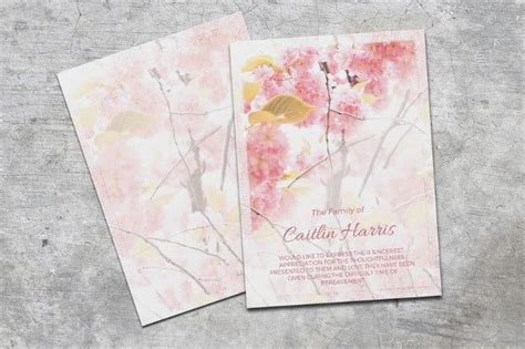 A bit of thicker paper published using a picture and accustomed to give a note or greeting; 6+ Funeral Thank-You Cards - Word, PSD, AI Illustrator, Publisher | Free & Premium Templates