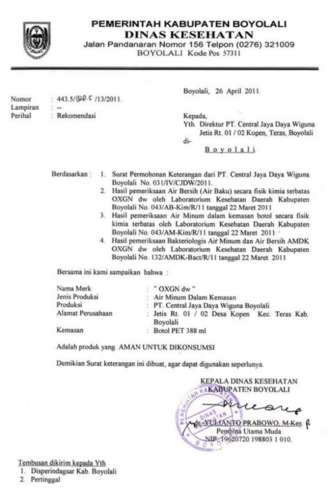 contoh surat kuasa dinas pemerintahan 15 contoh surat dinas resmi pemerintahan kesehatan