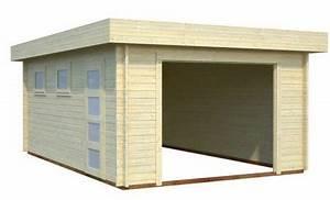 Garage Bois 20m2 : garage bois toit plat archives abris bois jardin ~ Melissatoandfro.com Idées de Décoration