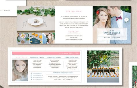 Price List Brochure Template by Price List For Wedding Photographers Brochure Templates